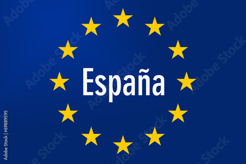 canvas print picture Europe Sign: Spain