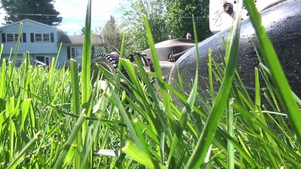 Smoke from Lawn Mower, Fumes, Air Pollution