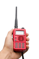 Red Walkie Talkie Handheld