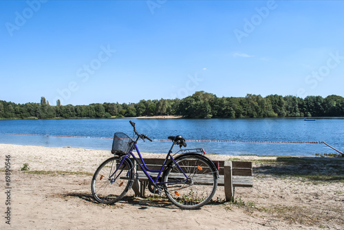 Bicycle by the lake