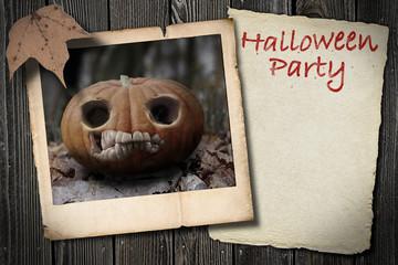 Halloween Kürbis Polaroid Brett