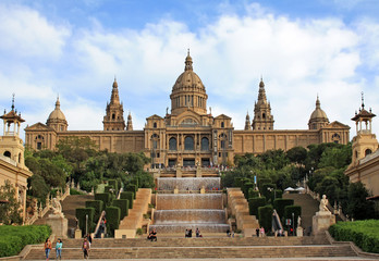 Building of the National Art Museum of Catalonia in Barcelona