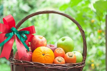 Fruits Basket at the garden