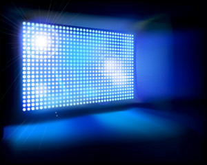 Big LED Screen. Vector illustration.