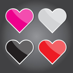 Vector Illustration, Heart Icon for Design and Creative Work