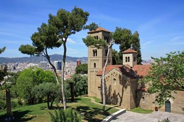 Church in Poble Espanyol in Barcelona