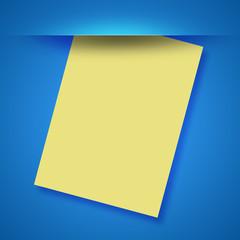 Foglio giallo vuoto