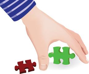 prendere pezzo di puzzle