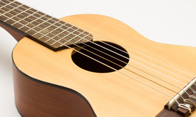 guitar isolated on white background, Close-up