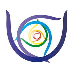 Energiewirbel - Kreis in Chakra Farben