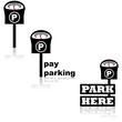 Parking meter icons