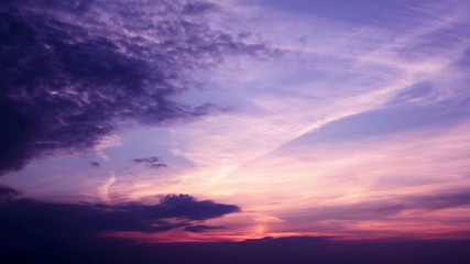 Romantic Sunset Clouds Time Lapse in Gentle Soft Tones HD