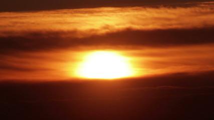 Sun Closeup at Sunset Sky HD