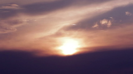 Sunset Sky Time Lapse HD
