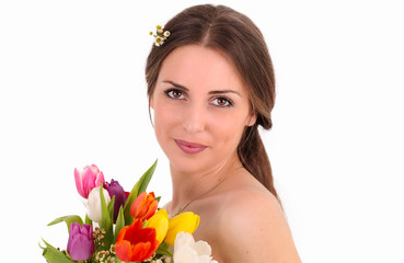 Eine strahlende Braut