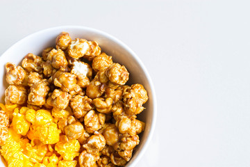 mixed popcorn in bowl