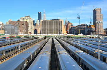 The West Side Train Yard for Pennsylvania Station in New York