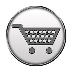 Icone métallisé panier