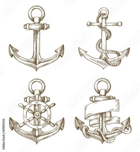 hand drawn anchor - 69893336