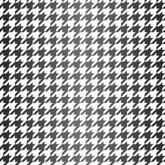 Tile black and white houndstooth vector pattern