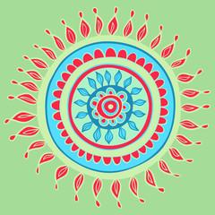 Mandala color pattern in vector