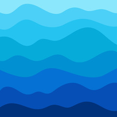 Stylized wave background in vector