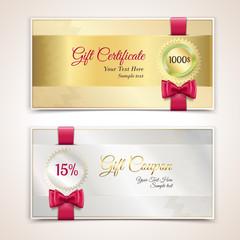 Gift certificates set