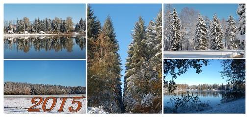 Wintercollage zum Jahreswechsel 2015