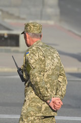 Ukrainian army during President Poroshenko Victory parade