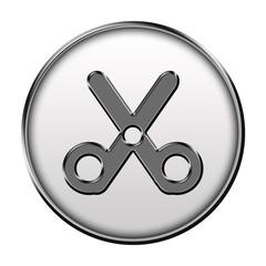 Icone métallisé ciseau