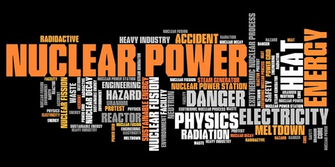Nuclear energy - word cloud concept