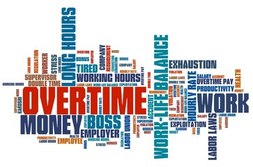 Overtime - word cloud concept