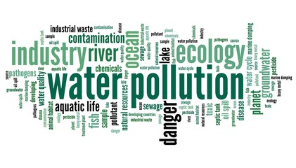 Water pollution - word cloud concept