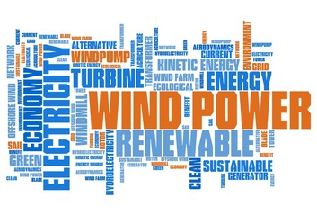 Wind energy - word cloud concept