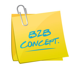 b2b concept memo post illustration design