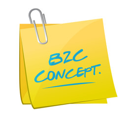 b2c concept post illustration design