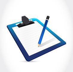 clipboard and pencil illustration design