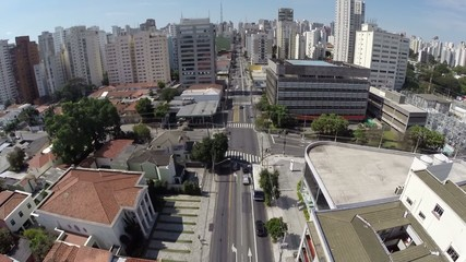 Aerial view from a Big Avenue in Sao Paulo, Brazil