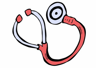 hand drawn stethoscope