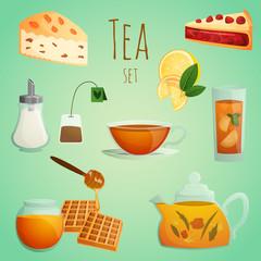 Tea decorative set