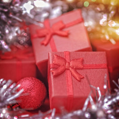 Christmas gifts with decorations