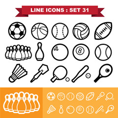 Line icons set 31