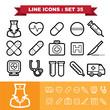 Line icons set 35