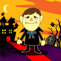 Cartoon Vampire. Vector illustration