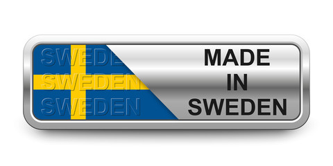 Made in Sweden Button