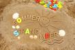 canvas print picture - Urlaubsmotiv aus Sand