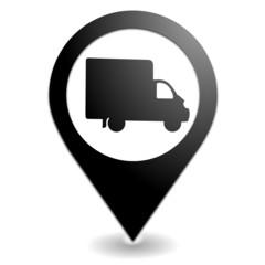 livraison sur symbole localisation noir