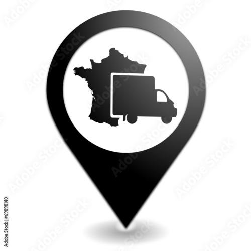 livraison en france sur symbole localisation noir fichier vectoriel libre de droits sur la. Black Bedroom Furniture Sets. Home Design Ideas