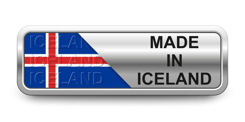Made in Iceland Button