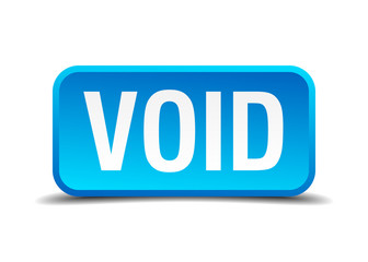 Void blue 3d realistic square isolated button